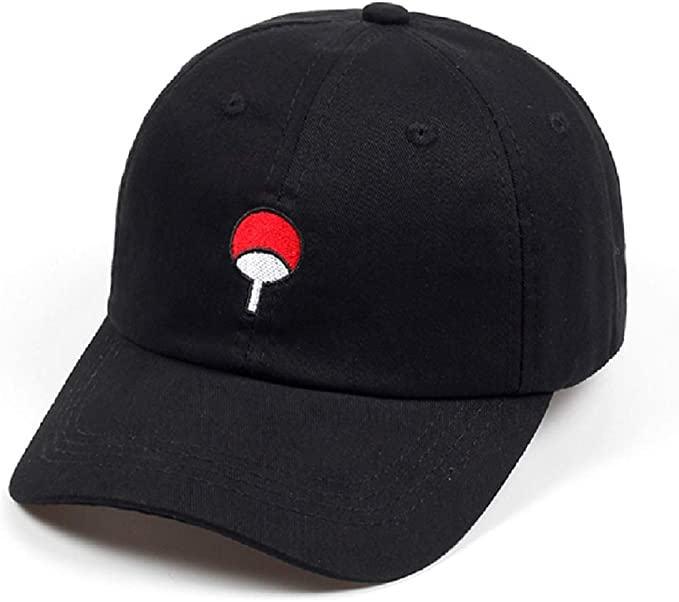 Black Akatsuki Anime Naruto Uchiha Family Dad Hat Embroidery Baseball Caps Adjustable red Cloud