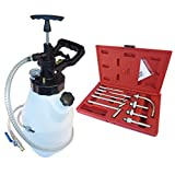 FIRSTINFO 12.5L Pneumatic and Manual 2 Way Auto Transmission Fluid (ATF) Oil & Fluid Dispenser Refilling System Pump Set