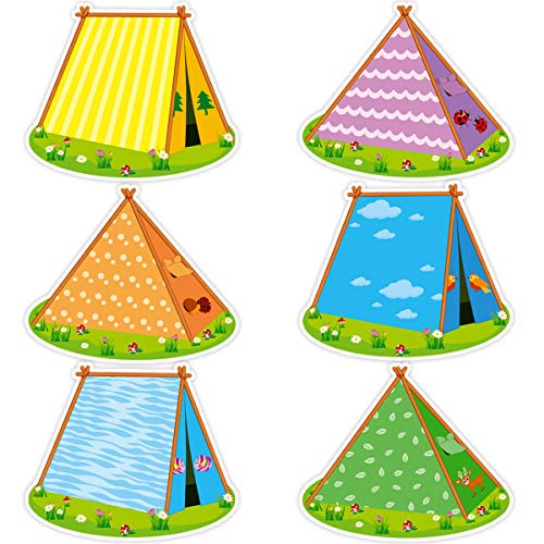 Tents Accent Cutouts for Classroom Camping VBS Bulletin Board Decoration 36Pcs]()