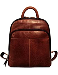 Jack Georges Voyager Collection Small Backpack 7835 (BROWN)