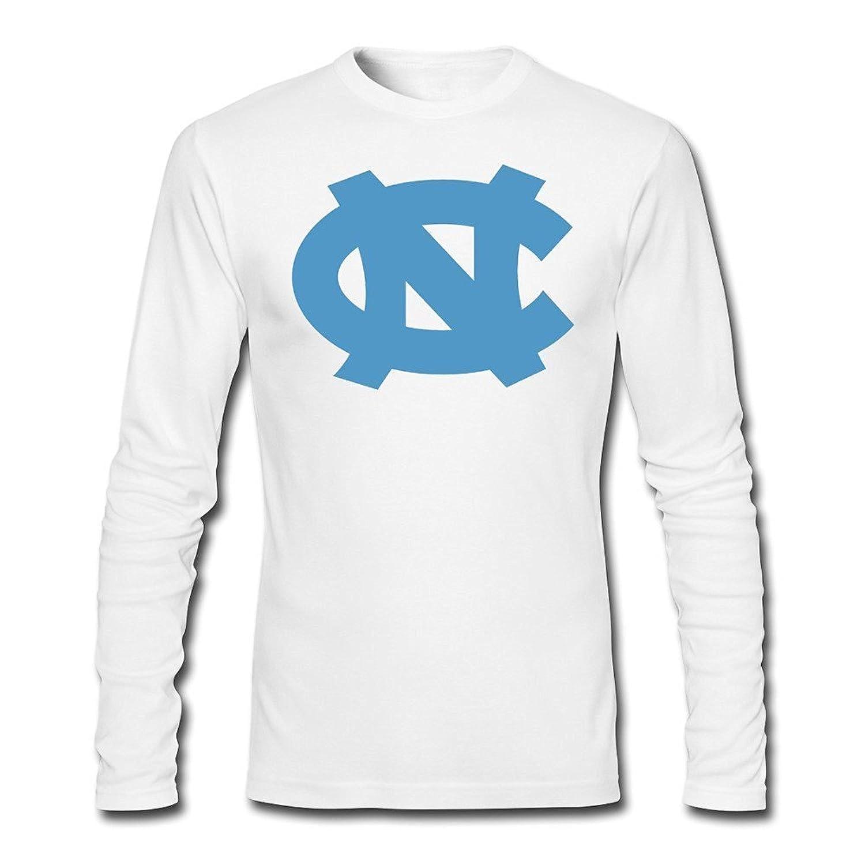 Mens North Carolina Tar Heels Logo Long Slev Tee Tshirt