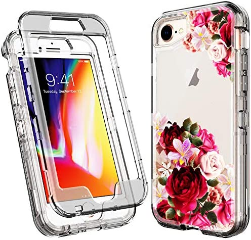 ACKETBOX iPhone Case%EF%BC%8CFloral Shockproof Protective product image