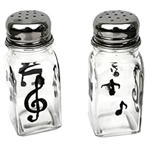 Hand-painted Music Notes Glass Salt and Pepper Shaker Set