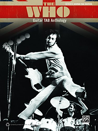 - The Who: Guitar TAB Anthology: Authentic Guitar TAB Sheet Music Songbook Collection (Guitar)