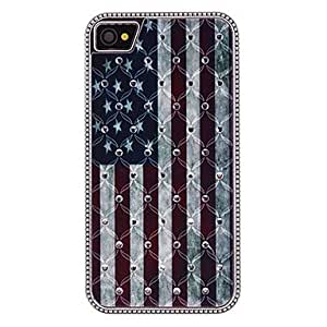 The Stars and Stripes Pattern Diamond Look Hard Case for iPhone 4/4S