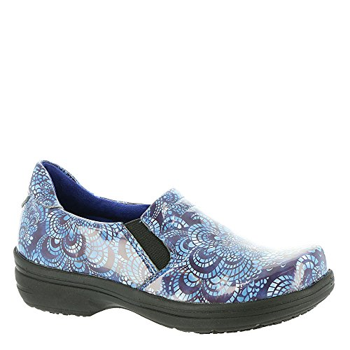 (Easy Works Women's Bind Health Care Professional Shoe, Blue Mosaic pa, 6 B(M) US)