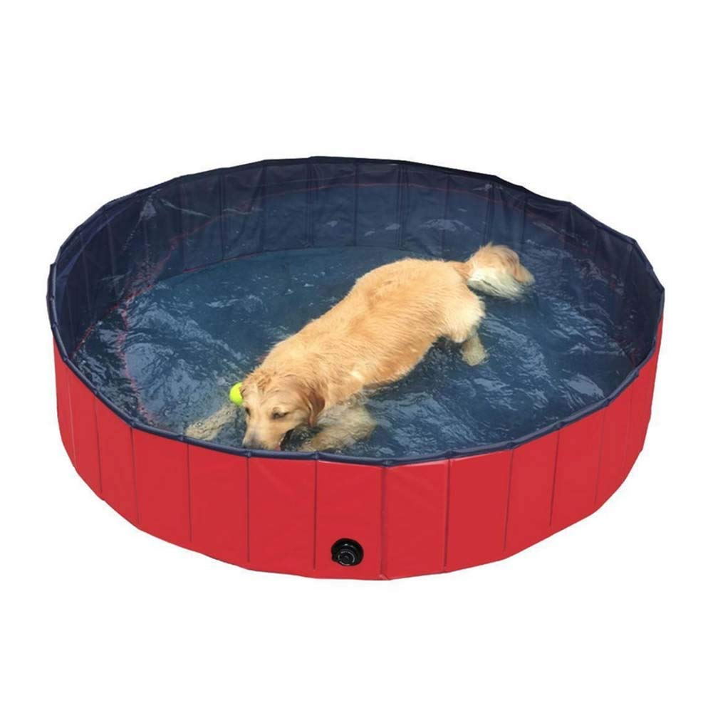 bluee Pet Bath Tub, Outdoor Portable Pet Foldable Cat Pet Bath Pool, Includes 2 colors