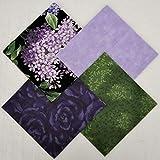 """Lilacs 4"""" Fabric Squares Charm Pack 100% cotton, 40 pieces"""