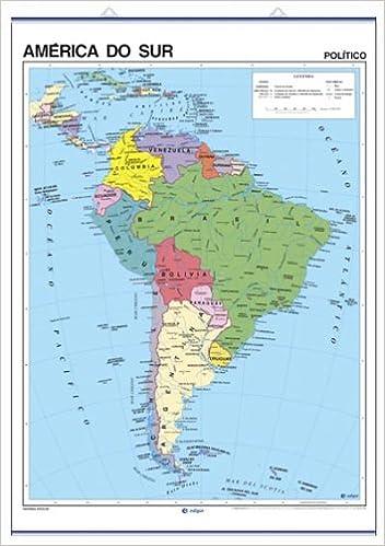 Amazon Com America Do Sur Fisico Politico Mapas Murales Cartografia Galician Edition 9788496953413 Edigol Ediciones Books