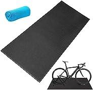 Bike Training Mat,Exercise Bike Mat Bicycle Trainer Hardwood Floor Carpet Protection Workout Mat for Indoor Tr