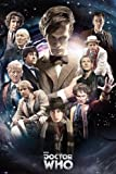 "Doctor Who - TV Show Poster (Regenerate - 11 Doctors In Time Vortex) (Size: 24"" x 36"") (By POSTER STOP ONLINE)"