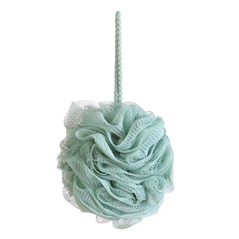 Amaping Soft Bath Shower Sponge Pouf Loofahs Mesh Bath Ball Portable Bubbles Bath Sponge Eco-friendly Exfoliating Mesh Brush (Light Blue)