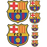 Art Deco Sticker–Aufkleber Fußball FC Barcelona 42x mittelgroßes Blech–7Sticker FC Barcelona