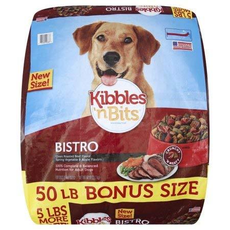 Kibbles 'n Bits Bistro Oven Roasted Beef Flavor Dry Dog Food, 50-Pound (7910092688)