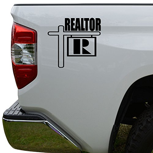 Rosie Decals Real Estate Realtor Die Cut Vinyl Decal Sticker For Car Truck Motorcycle Window Bumper Wall Decor Size- [6 inch/15 cm] Wide Color- Matte Black