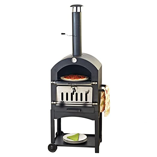 Horno de carbón para pizzas, horno de leña para ahumar carnes y ...