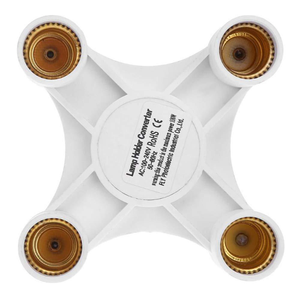 4 a 1 E27 a E14 3//4 bombilla cabeza l/ámpara base titular para bombilla socket adaptador divisor tornillo bombilla de la l/ámpara de inducci/ón l/ámpara base titular