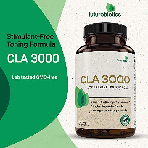Futurebiotics CLA 3000 Extra High Potency – Naturally Supports Healthy Weight Management, Increase Lean Muscle Mass - Non-Stimulating Conjugated Linoleic Acid, Non GMO, 120 Softgels 3
