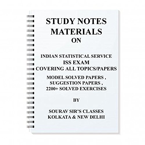 Buy STUDY MATERIALS FOR INDIAN STATISTICAL SERVICE ISS 2019