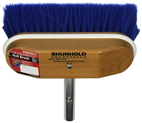 Shurhold 310 8  Window And Hull Brush With Extra Soft Blue Nylon Bristles