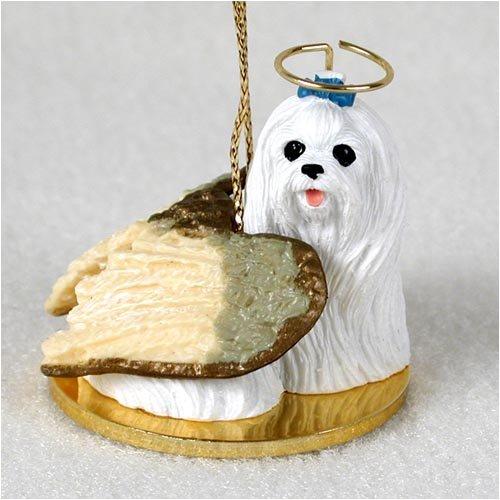 Angel Collectible Dog Ornament - 1 X Maltese Angel Dog Ornament