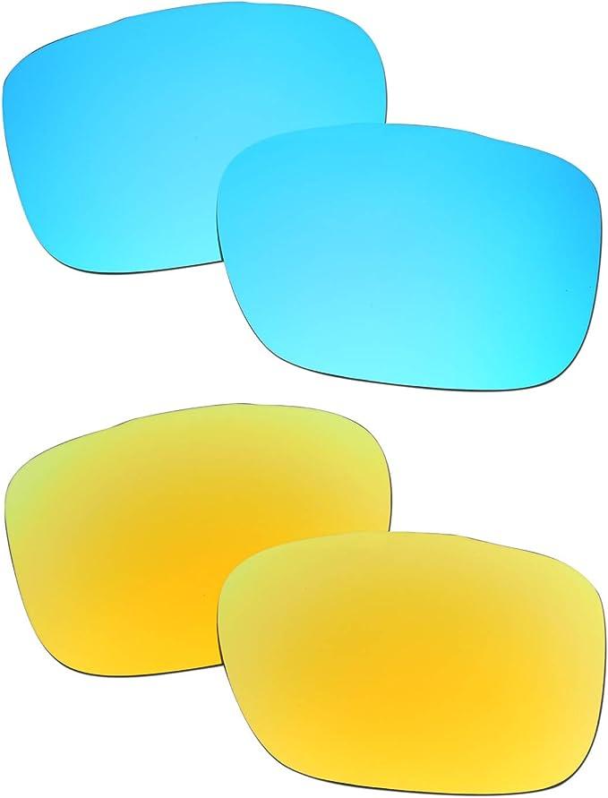 SOODASE Para Oakley TwoFace Gafas de sol Azul/Dorado 2 Pares ...