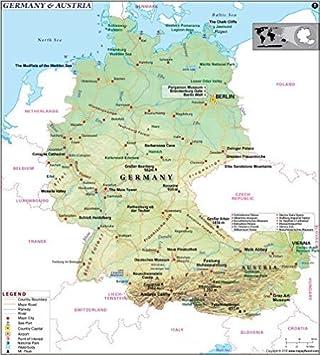 landkarte deutschland und österreich Deutschland und Österreich Karte (91,4 cm W x 101,1 cm H): Amazon