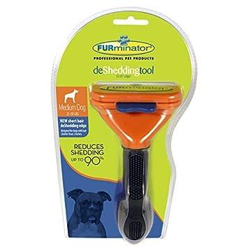 Furminator (2 Unidades) deshedding Herramienta de Pelo Corto Perro Mediano: Amazon.es: Productos para mascotas