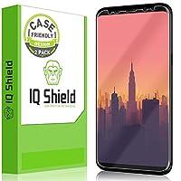 Protector de pantalla IQShield Galaxy S8 Plus (no de vidrio), protector de pantalla de cobertura total LiQuidSkin para Samsung Galaxy S8 Plus (paquete de 2, compatible con mayúsculas y minúsculas) Película HD transparente contra burbujas