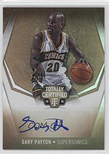 Gary Payton #/10 (Basketball Card) 2015-16 Panini Totally Certified - Totally Certified Signatures - Mirror Gold #TC-GP ()