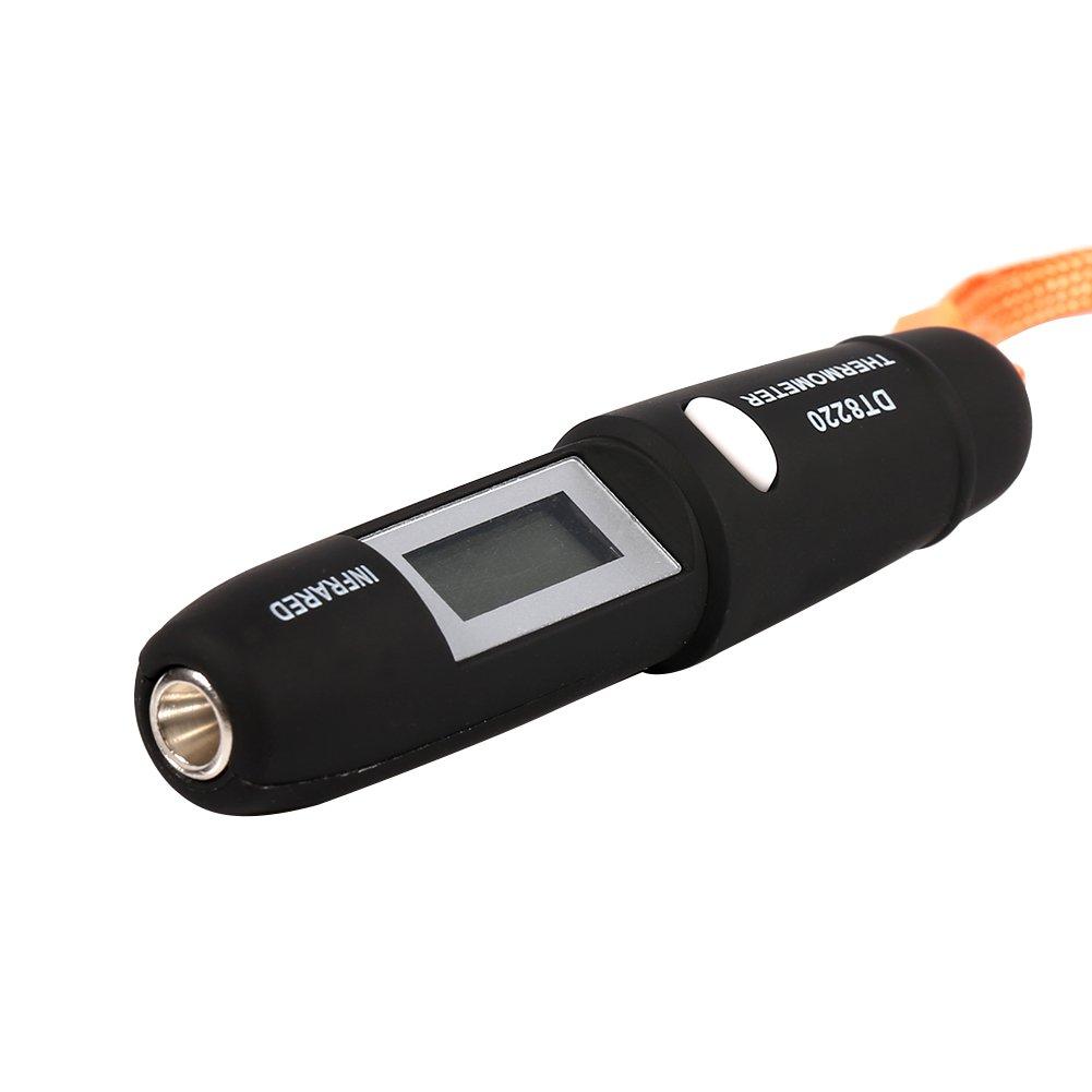 Zerodis senza contatto a infrarossi IR termometro LCD digitale misuratore di temperatura penna per cibo latte di cottura Nero