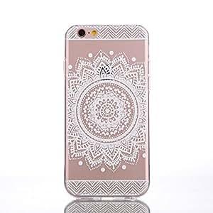 iPhone 6 6S Funda Case Cover, Greendimension® Plástico Duro Blanco Suave Patrón Impreso Claro De La Cubierta Para El iPhone 6 6S 4,7 Pulgadas (flores de Datura)