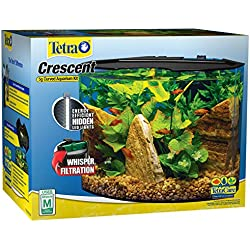 Tetra Crescent Acrylic Aquarium Kit, Energy Efficient LEDs, 5-Gallon