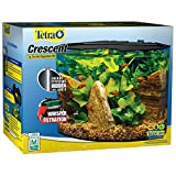 Tetra Crescent aquarium Kit 5 Gallons, Curved-Front Tank With...