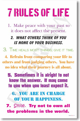 7 Rules of Life - NEW Classroom Motivational Poster by PosterEnvy