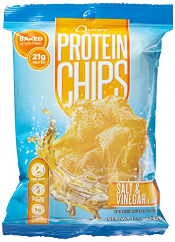 Quest Nutrition Protein Chips, Salt and Vinegar, 16 Count