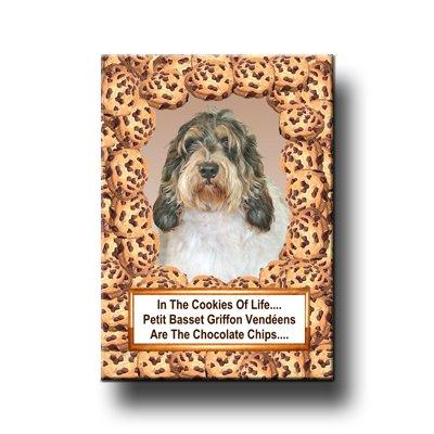 Petit Basset Griffon Vendeen Choc Chip Cookie Fridge Magnet