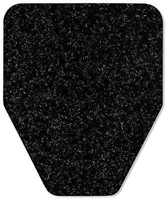 Direct Floor Mats Odor and Bacteria Eliminating Disposable Urinal Mats - Bulk 80 Pack Black
