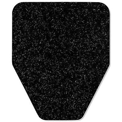 Image of Direct Floor Mats Odor and Bacteria Eliminating Disposable Urinal Mats - Bulk 80 Pack Black Floor Mats & Matting