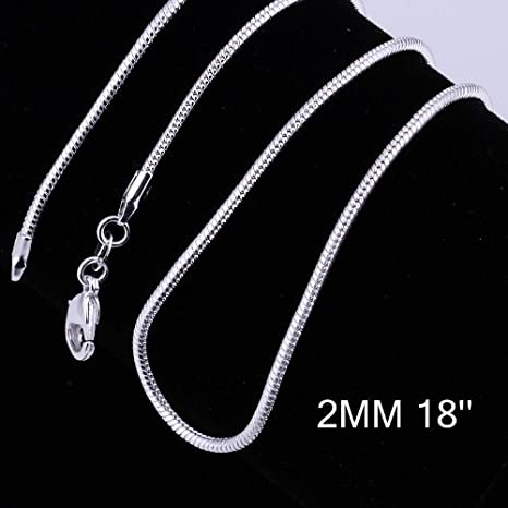 5 PCS Lots Xmas Jewelry Silver Box Chain Necklace 16-24 Inch For Pendants 2 MM