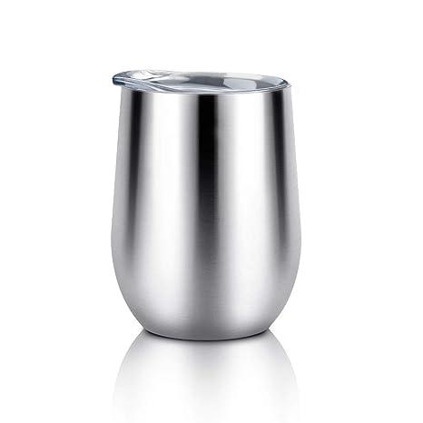 Amazon.com: LINGSFIRE Vaso de vino aislado con tapa, vaso de ...
