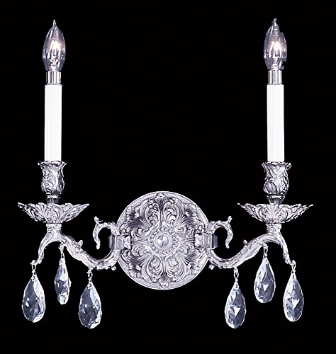 Framburg 8422 PS 2-Light Czarina Sconce, Polished (Framburg Silver Sconce)