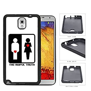 The Awful Truth Funny Movie Black and White with Red Hearts Hard Rubber TPU Phone Case Cover Samsung Galaxy Note 3 N9000