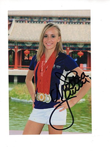 NASTIA LIUKIN HAND SIGNED 4x6 COLOR PHOTO+COA BEAUTIFUL OLYMPIC GYMNAST - Autographed Olympic Photos