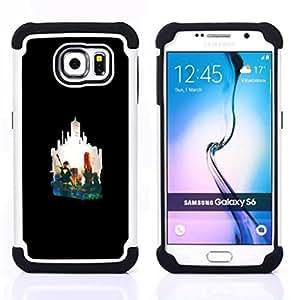 """Samsung Galaxy S6 / SM-G920 - 3 en 1 impreso colorido de Altas Prestaciones PC Funda chaqueta Negro cubierta gel silicona suave (Flecha héroe"""")"""