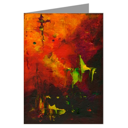 Extreme 2 - Original Abstract Art By the Artist Philo Greeting - Thank Card Epic You