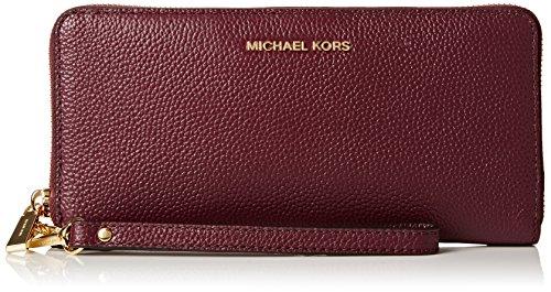 MICHAEL Michael Kors Travel Continental Wallet Plum by Michael Kors