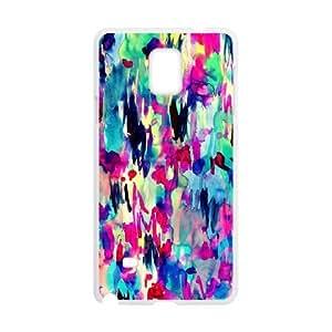 Samsung Galaxy Note 4 Case, Abstract Watercolor Hard Case For Samsung Galaxy Note 4(White) Yearinspace058215