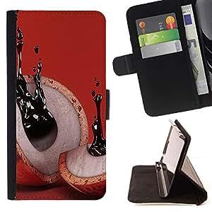 Momo Phone Case / Flip Funda de Cuero Case Cover - Resumen de tinta Significado Rojo - Samsung Galaxy S6