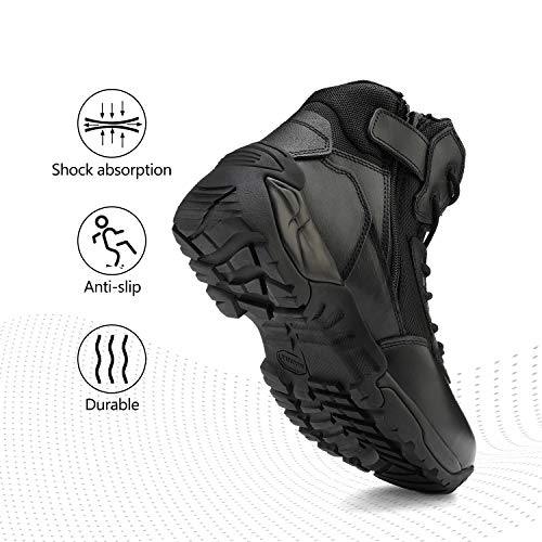 NORTIV 8 Men's Military Tactical Work Boots Hiking Motorcycle Combat Boots